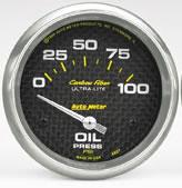 Autometer Carbon Fibre -Oil Pressure 0-100 psi elec 52mm