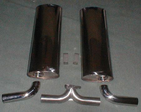 Stainless steel dual quiet muffler kit