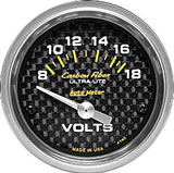 Carbon fibre VOLTMETER 52mm