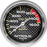 Carbon Fibre NITROUS PRESSURE 0-1600 PSI 67mm 2 5/8 in