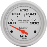 Ultralite OIL TEMP 140-300 DEG F  2 5/8 IN